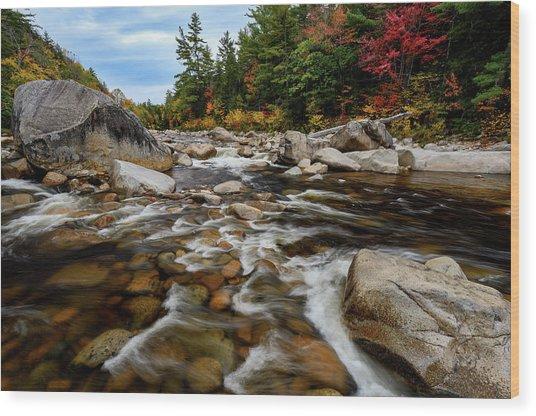 Swift River Autumn Nh Wood Print