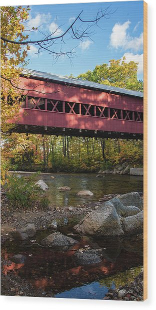 Swift River Covered Bridge Wood Print