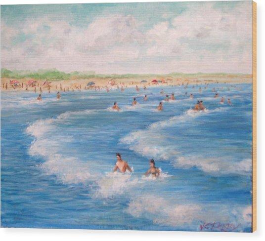 Second Beach, Newport Ri  Wood Print