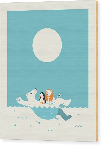 Swimming Lessons 1 Wood Print