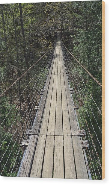 Swinging Bridge Falls Creek Falls State Park Wood Print