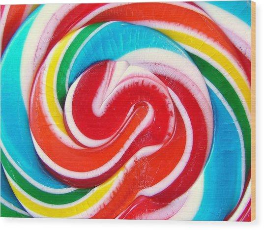 Swirl Of Happiness Wood Print by Jennifer Lauren