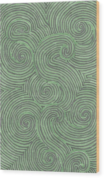 Swirl Power Wood Print