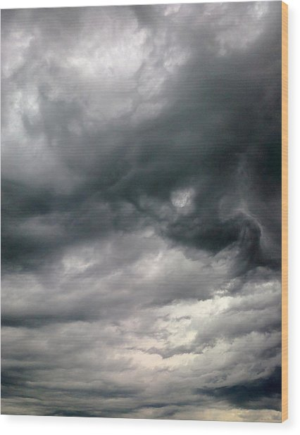 Swirling Clouds Wood Print by Stephen Doughten
