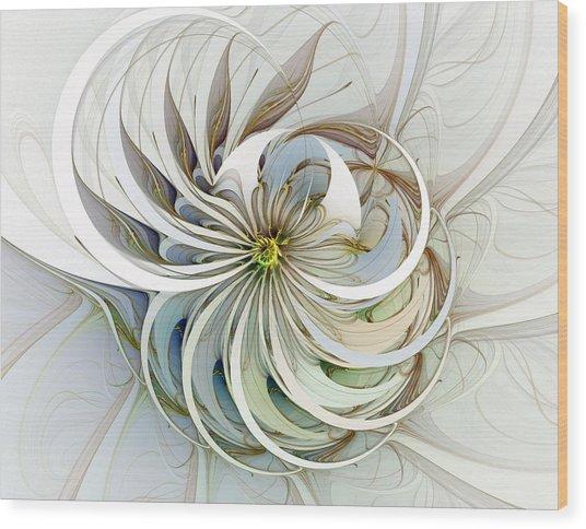 Swirling Petals Wood Print