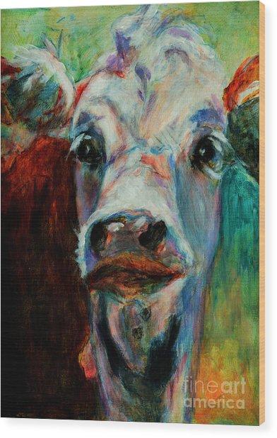 Swiss Cow - 1 Wood Print