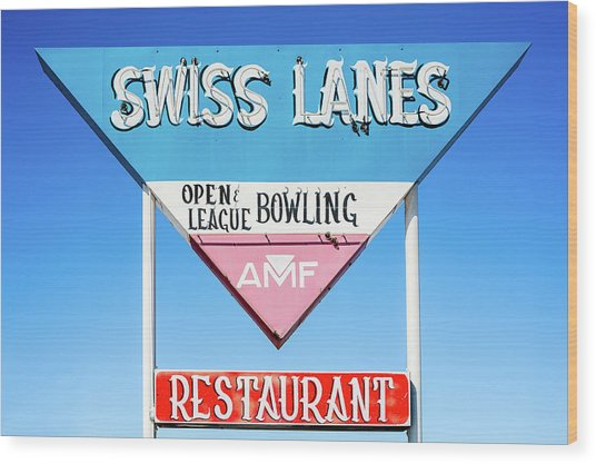 Swiss Lanes Wood Print