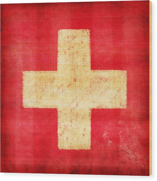 Switzerland Flag Wood Print