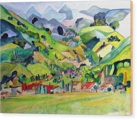 Switzerland Wood Print by Patricia Arroyo
