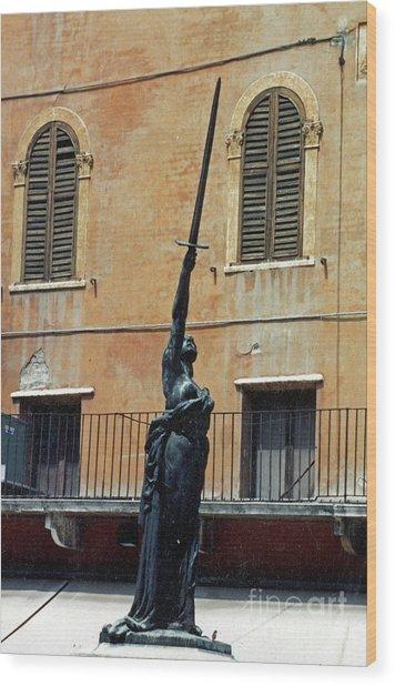 Sword Of Freedom Wood Print