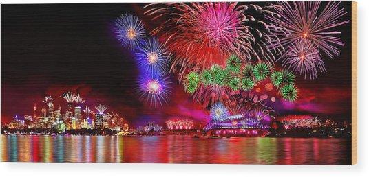 Sydney Celebrates Wood Print