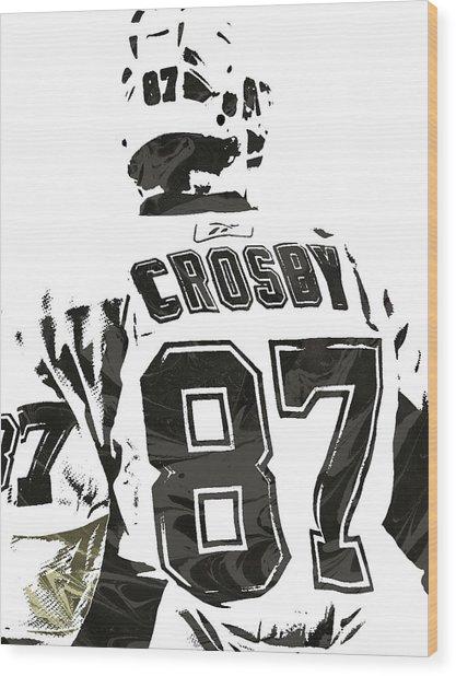 Sydney Crosby Pittsburgh Penguins Pixel Art 2 Wood Print