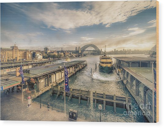 Sydney Harbor I Wood Print
