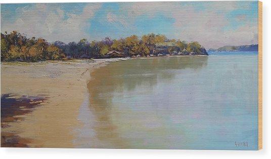 Sydney Harbour Beach Wood Print