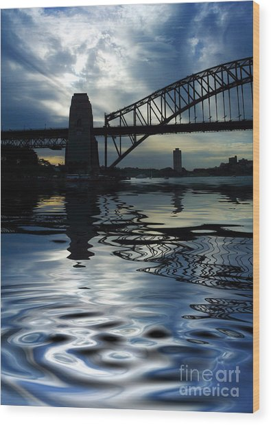 Sydney Harbour Bridge Reflection Wood Print