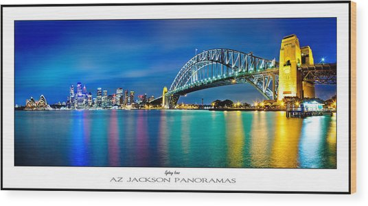 Sydney Icons Poster Print Wood Print