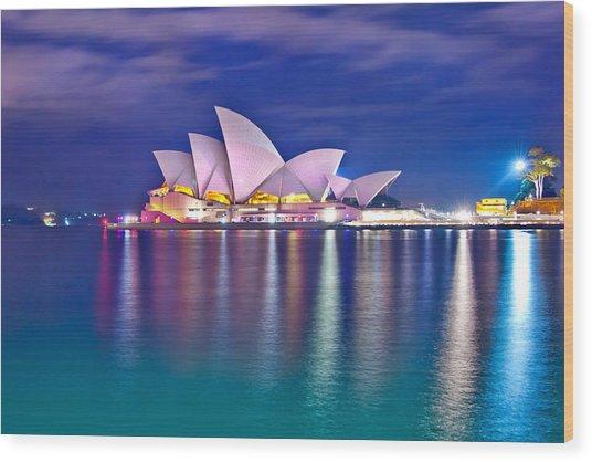 Sydney Opera House Pre Dawn Wood Print