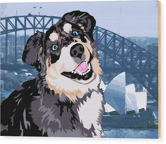 Sydney Wood Print by Sarah Crumpler