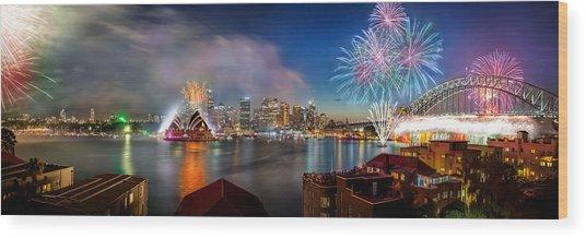 Sydney Sparkles Wood Print