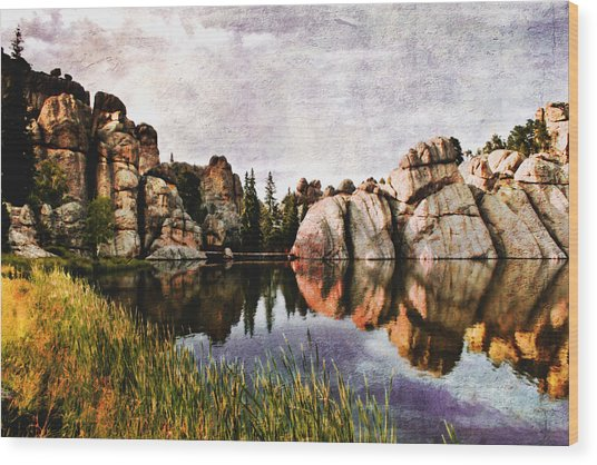 Sylvan Lake - Black Hills Wood Print
