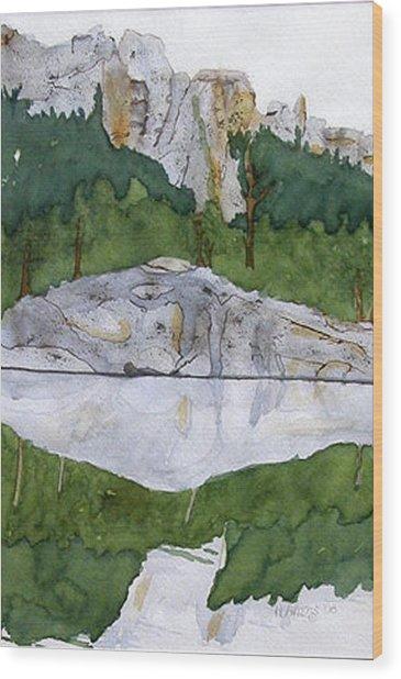 Sylvan Lake Wood Print by Heather Ahrens