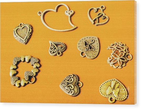 Symbolic Romance Wood Print
