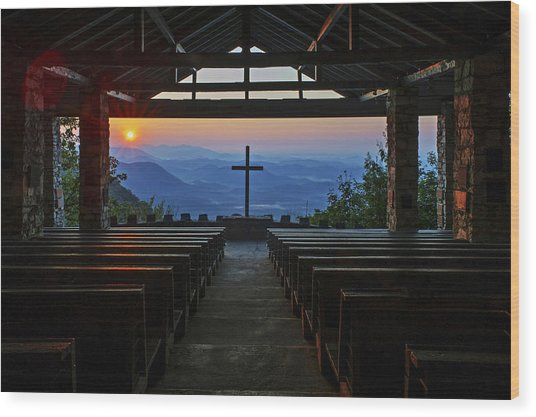 Symmes Chapel Sunrise Aka Pretty Place  Greenville Sc Wood Print