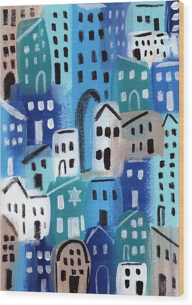 Synagogue- City Stories Wood Print