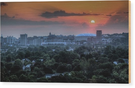 Syracuse Sunrise Wood Print