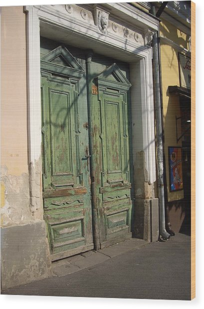 Szentendre Doors Wood Print by Julie Ringer