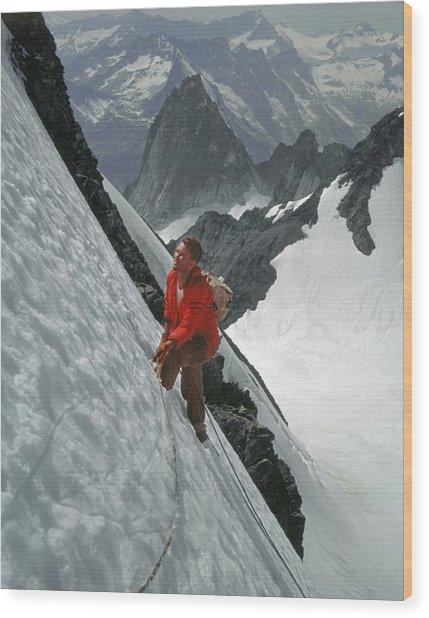 T-202707 Eric Bjornstad On Howser Peak Wood Print