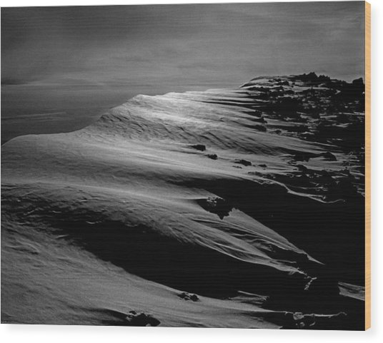 T-213312 Windblown Ice On Humphreys Peak Wood Print