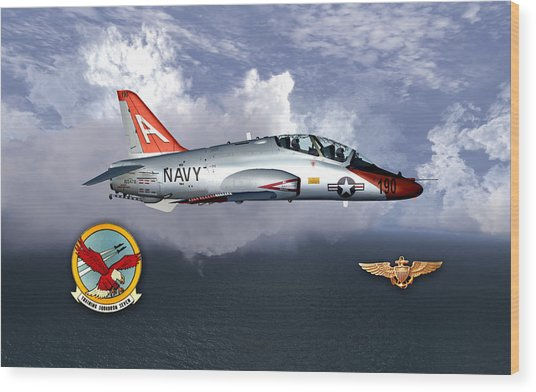 T-45 With Wings Wood Print