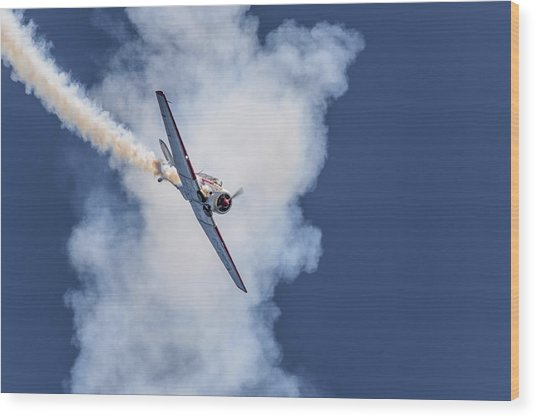 T-6 Texan Wood Print