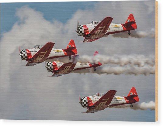 T-6 Texan Wood Print