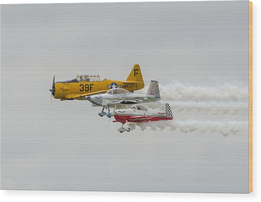T-6 Texan   Rv-8   Dr-107 Wood Print