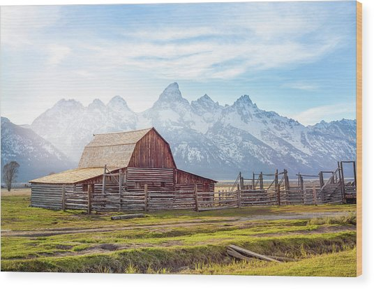 T. A. Moulton Barn // Grand Teton National Park  Wood Print