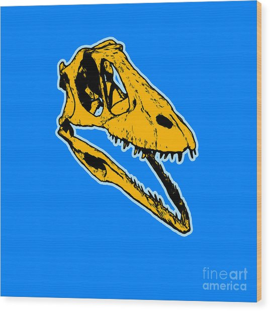T-rex Graphic Wood Print
