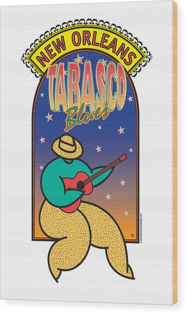 Tabasco Blues Wood Print