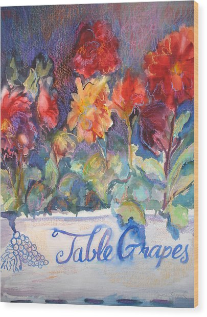 Table Grapes Wood Print by Joyce Kanyuk