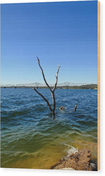 Table Rock Lake Kimberling City Wood Print