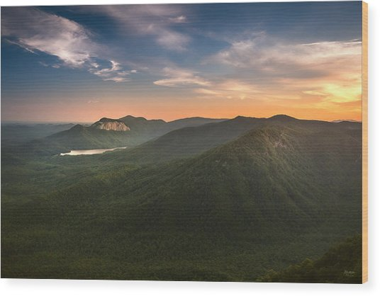 Table Rock Sunset Wood Print