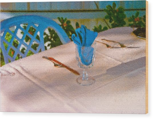 Table Setting Wood Print
