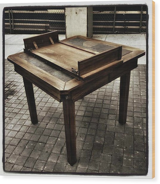 Wood Print featuring the photograph Table That Thought. This Beautiful by Mr Photojimsf
