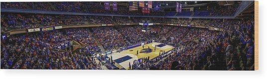 Taco Bell Arena And Boise State Basketball Wood Print by Lost River Photography