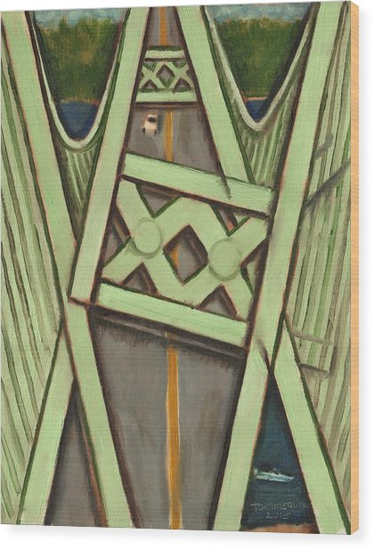 Tacoma Narrows Bridge Collapse  Wood Print