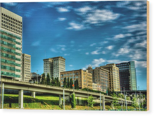 Tacoma,washington.hdr Wood Print