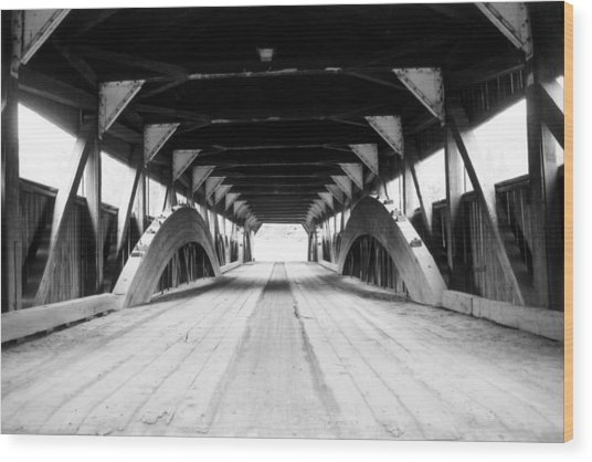 Taftsville Covered Bridge Wood Print