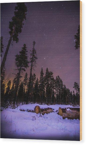 Tahoe Mountain - New Year's Eve Wood Print by Karl Alexander