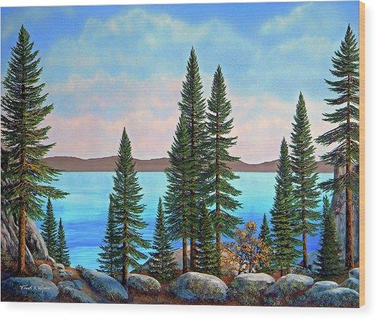 Tahoe Shore Wood Print
